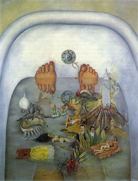 From Wiki@http://en.wikipedia.org/wiki/File:What_The_Water_Gave_Me,_Frida_Kahlo,_which_inspired_Florence_Welch_in_2011.jpg