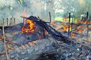Scenes of communal violence in Bangladesh