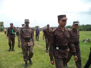 Members of 51 Border Guards Bangladesh (BGB) in Babuchara Union, Dighinala Upazila of Khagrachari District in the Chittagong Hill Tracts (CHT) of Bangladesh.  Photo: Hana