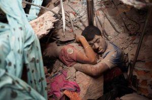 The final embrace: Photo by Taslima Akhter