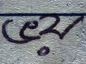 THE WORD 'FEAR' WRITTEN IN KALPANA'S DIARY @Shahidul Alam/Drik