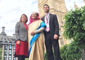 Tulip Siddique with her aunt Bangladesh PM Sheikh Hasina